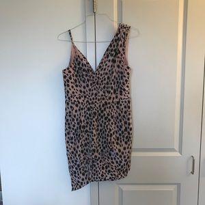 BCBGeneration Leopard Pink Dress